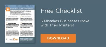 Free print management Checklist