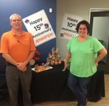 imageOne Team Members Jennifer Urban and Paul DePasquale Celebrate
