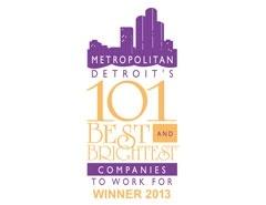 Metropolitan Detroit's 101 Best & Brightest Places to Work in 2013
