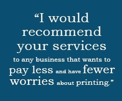 I Would recommend your services