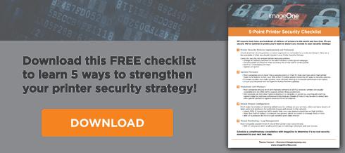 Print Security Checklist