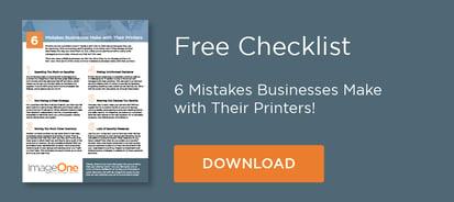 printer mistakes checklist